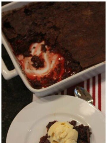 Gluten Free Chocolate Cherry Dump Cake without Cake Mix