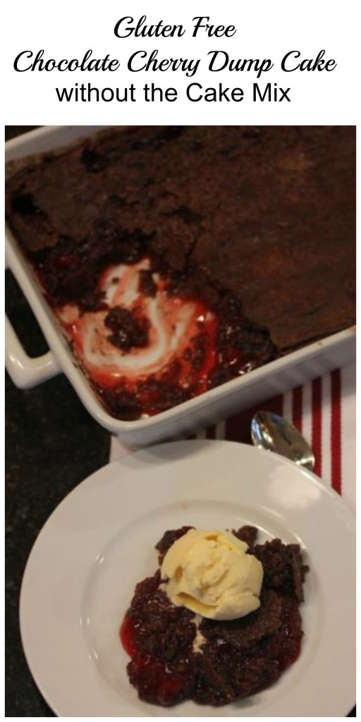 Gluten Free Chocolate Cherry Dump Cake without Cake Mix