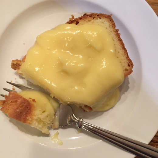 Pound Cake and Lemon Pudding