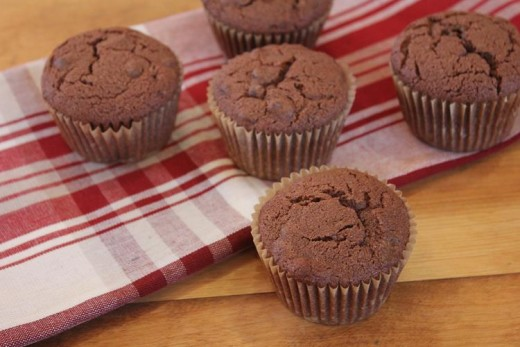 gluten free double chocolate muffin