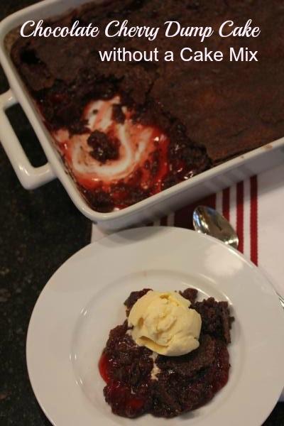 Chocolate Cherry Dump Cake without Cake Mix