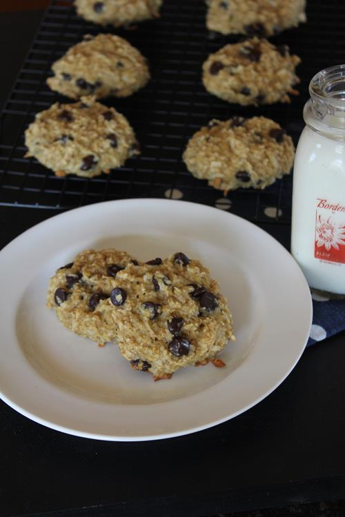 Coconut Chocolate Chip Breakfast Cookies