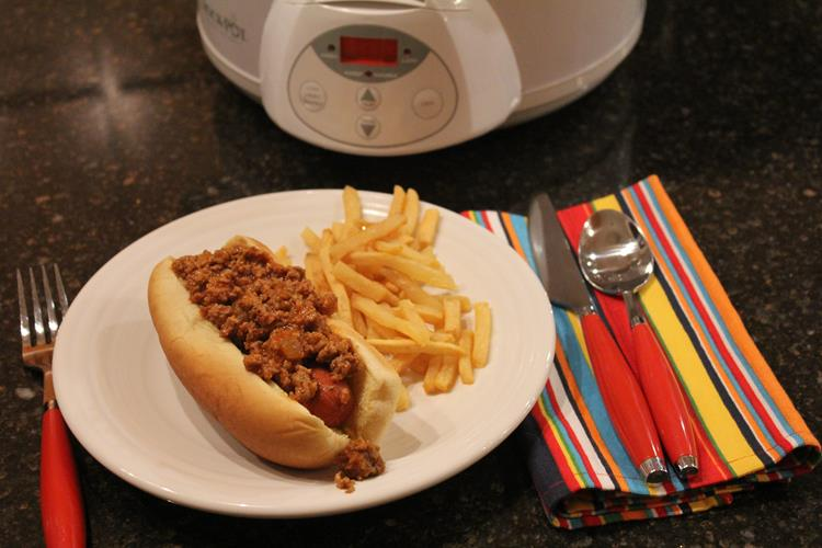 Slow Cooked Coney Dogs
