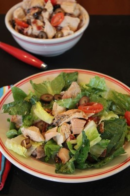 Chicken Salad with Tomatoes and Bacon