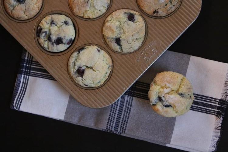 Gluten Free Blueberry Coffee Cake Muffin