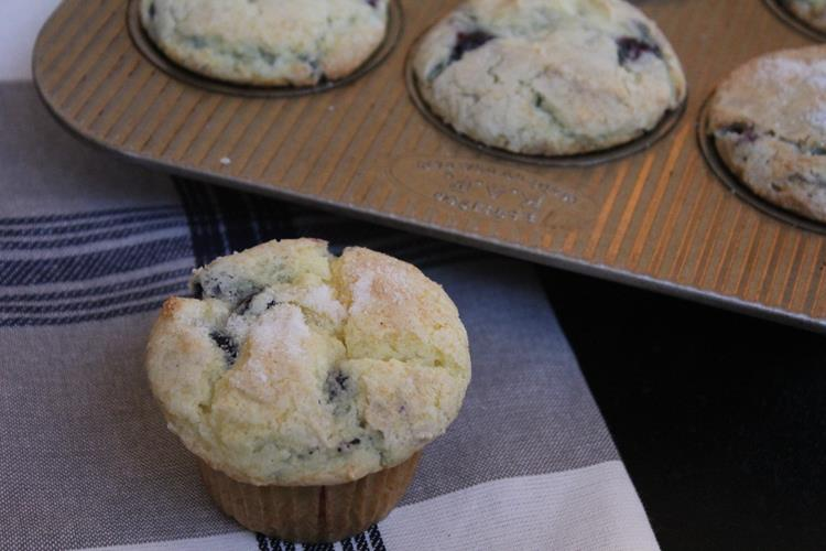 Gluten Free Blueberry Coffee Cake Muffins