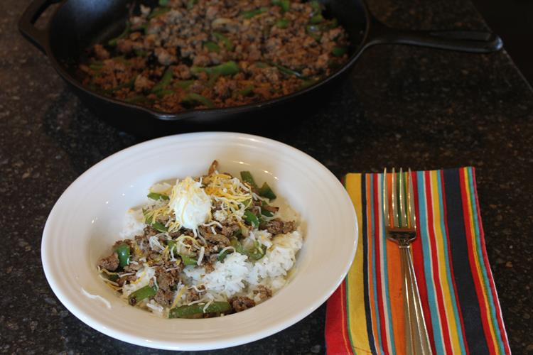 Ground Beef Fajita Bowls