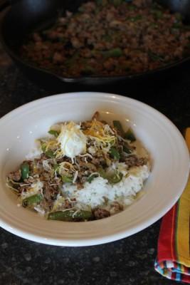 Ground Beef Fajita Bowls