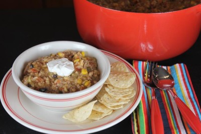 One Pot Taco Dinner with Rice