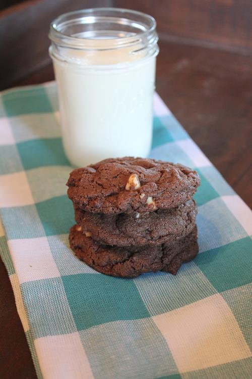 Gluten Free Double Chocolate White Chocolate Cookie