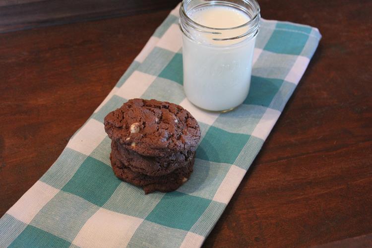 Gluten Free Double Chocolate White Chocolate Cookies