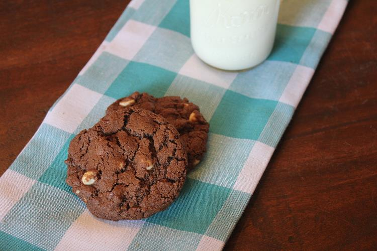 gluten free double chocolate white chocolate cookie