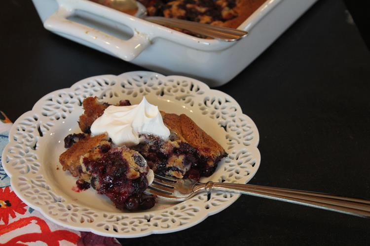 Poor Man's Blueberry Cobbler
