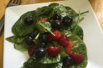 Triple Berry Spinach Salad