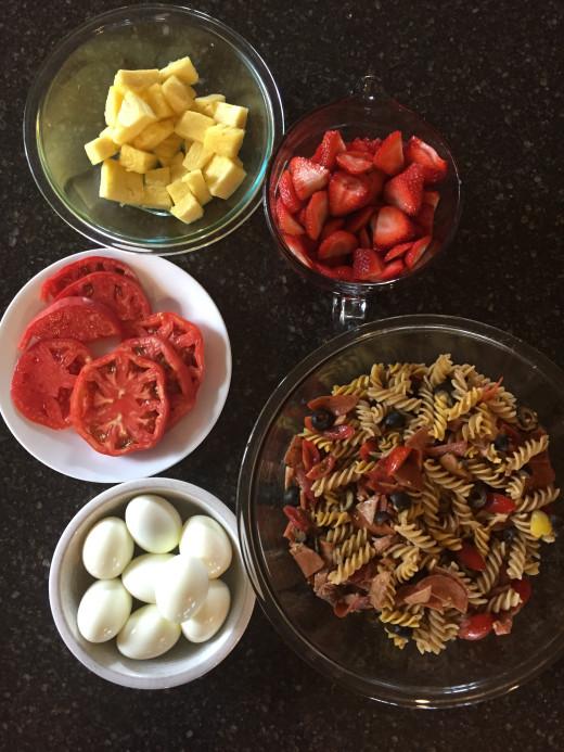 Summer Pasta Salad Dinner