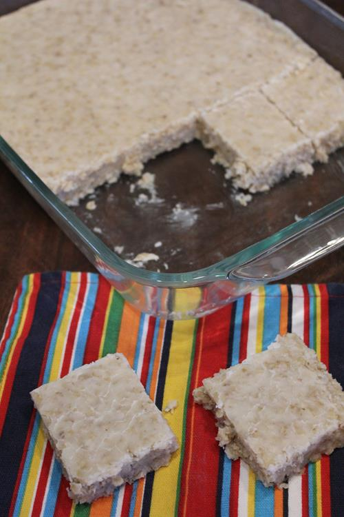 White Chocolate No Bake Cookie Bars