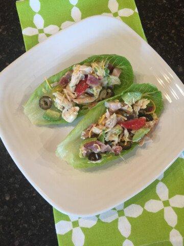 Chicken Bacon Avocado Lettuce Wrap