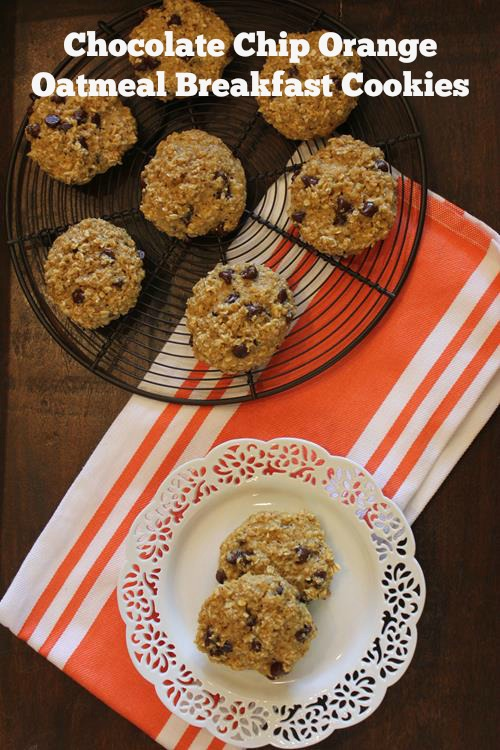 Chocolate Chip Orange Oatmeal Breakfast Cookies