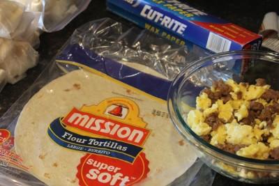 Homemade Frozen Breakfast Burritos