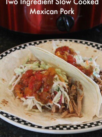 Two Ingredient Slow Cooked Mexican Pork
