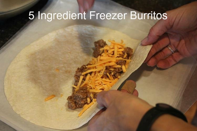 5 Ingredient Freezer Burritos