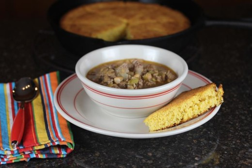 Creamy White Chili with Sausage