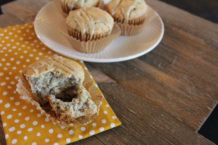 gluten free caramel banana muffins