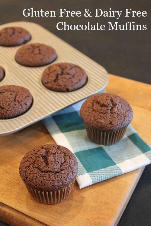 Gluten Free Dairy Free Chocolate Muffins