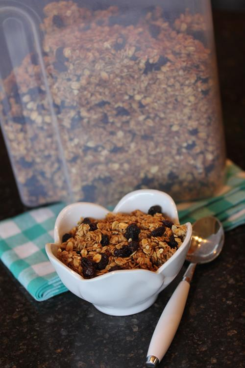 Homemade Cinnamon Raisin Granola