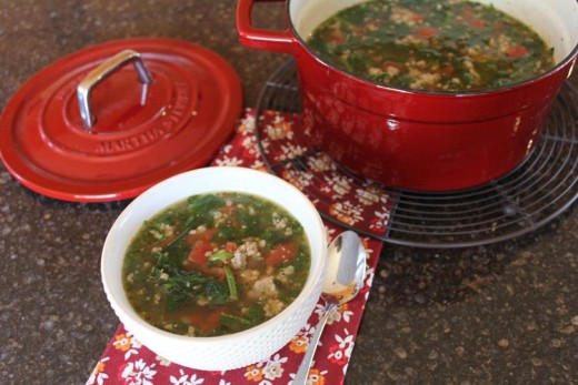 Sausage Spinach Soup (2)
