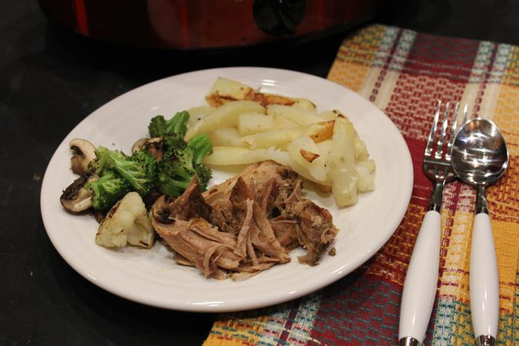Three Ingredient Crock Pot Pork Roast