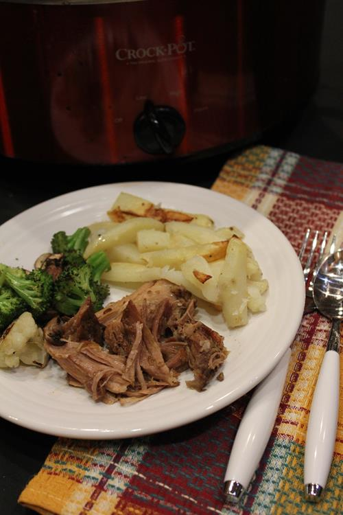Three Ingredient Crock Pot Pork Roast