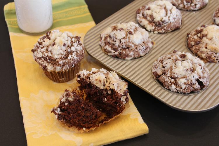 Gluten Free Double Chocolate Banana Muffins