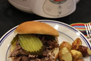 Slow Cooked Pickled Beef Sandwiches