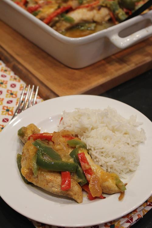 Cheesy Fajita Chicken