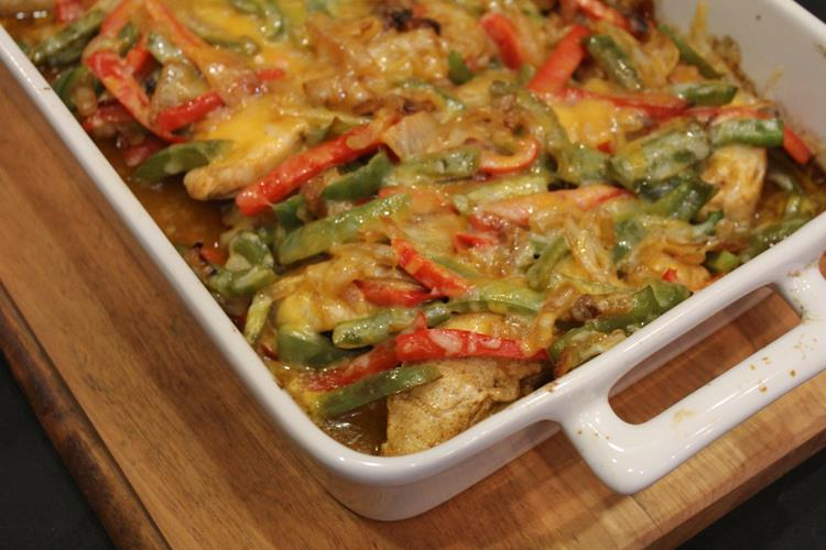 Cheesy Fajita Chicken