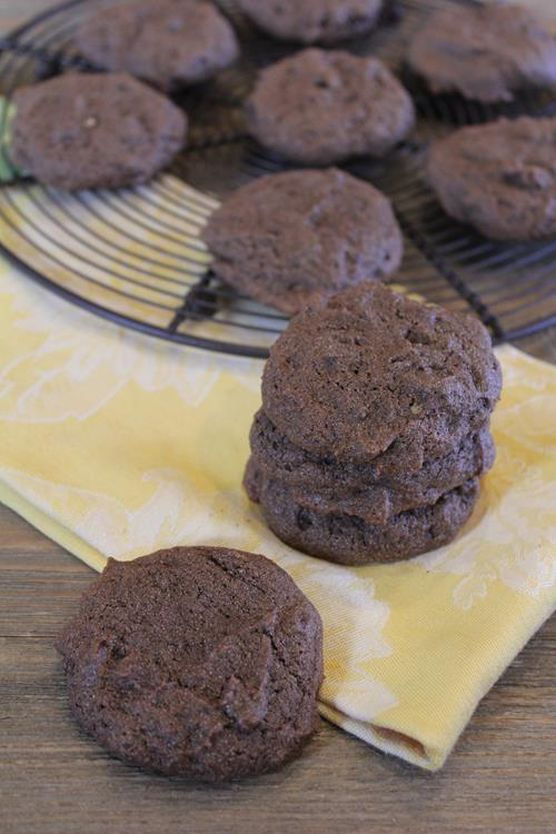 These gluten free double chocolate banana cookies are easy to make and ...