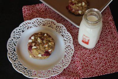 Raspberry Oatmeal Breakfast Cookies