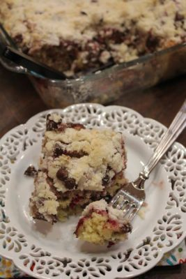 Raspberry Chocolate Chip Coffee Cake