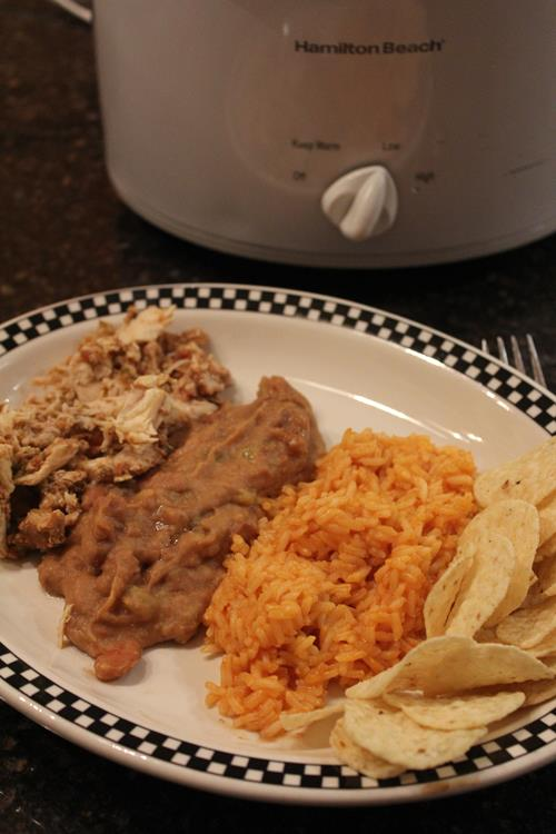Slow Cooked Cheater Refried Beans