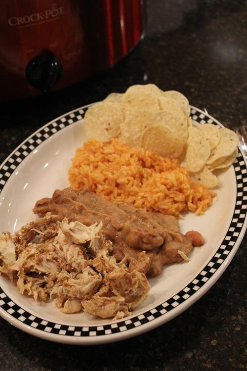 Slow Cooked Salsa Chicken