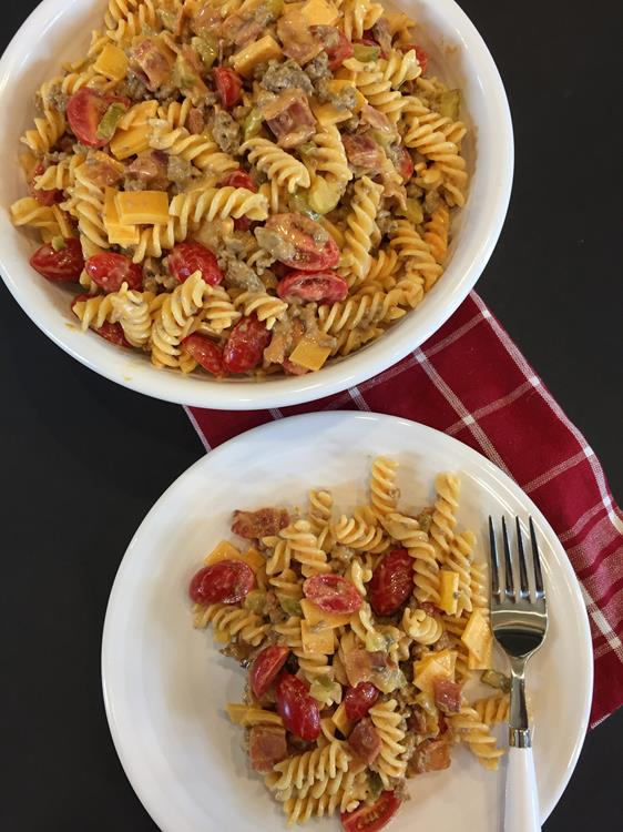 Bacon Cheeseburger Pasta Salad