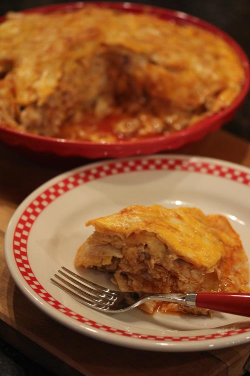Chicken Enchilada Pie