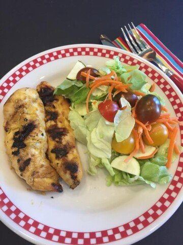 Four Ingredient Grilled Honey Mustard Chicken