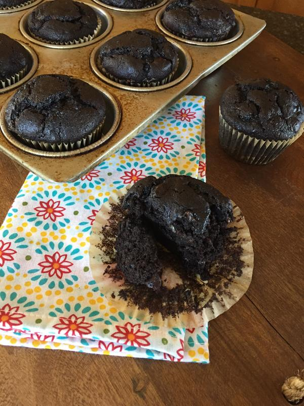 Double Chocolate Gluten Free Banana Muffins