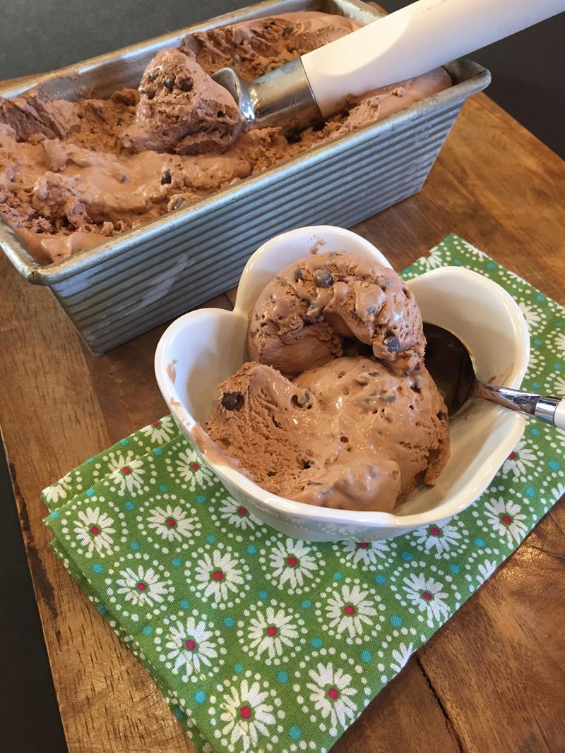 No Churn Double Chocolate Ice Crea