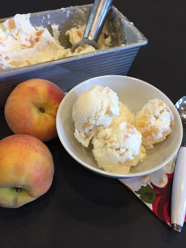 No Churn Peach Ice Cream