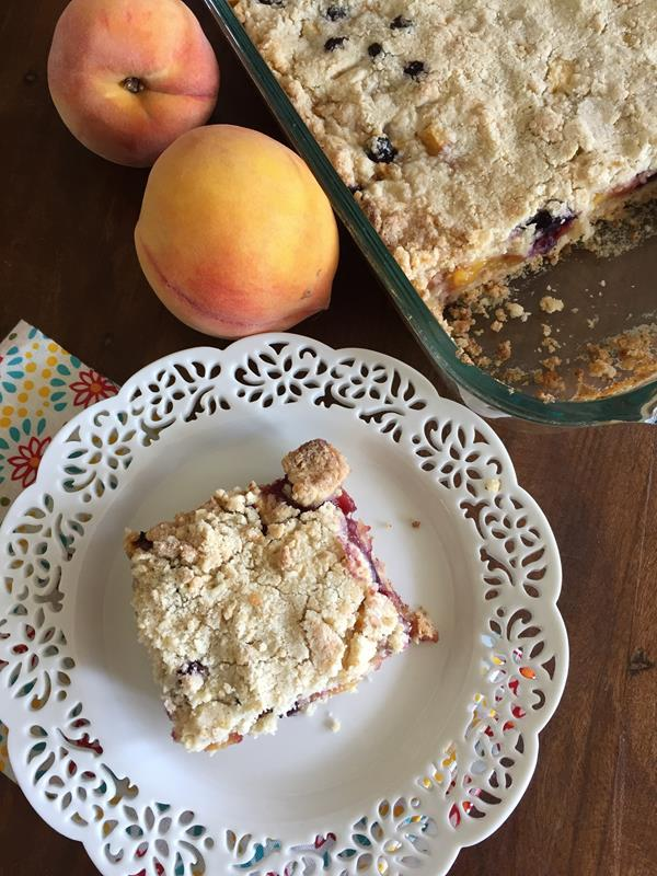 Blueberry Peach Bars