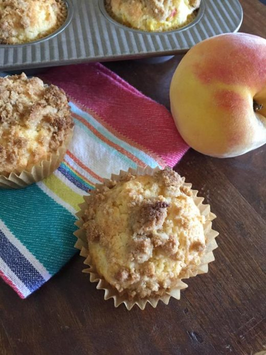 Gluten Free Peach Muffins