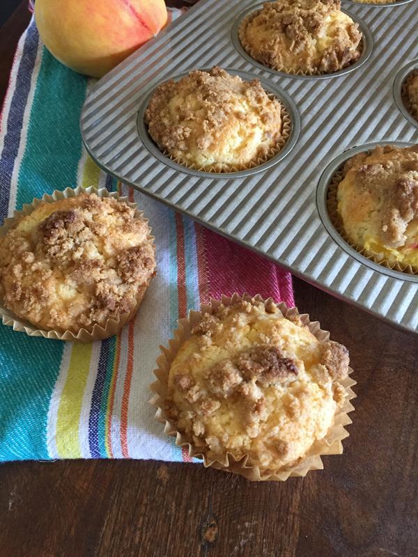 Gluten Free Peach Muffin